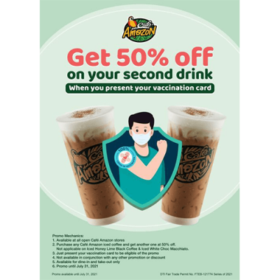50% at Cafe Amazon Philippines